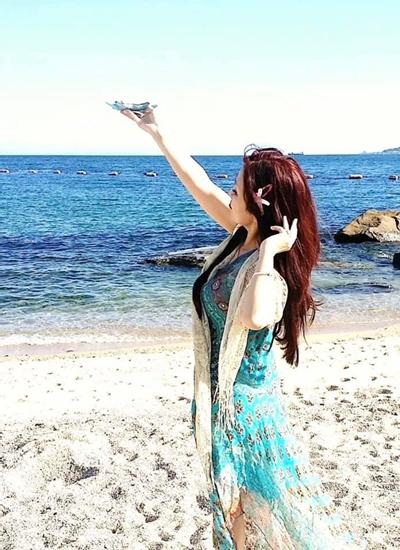 日本の舞子の海で